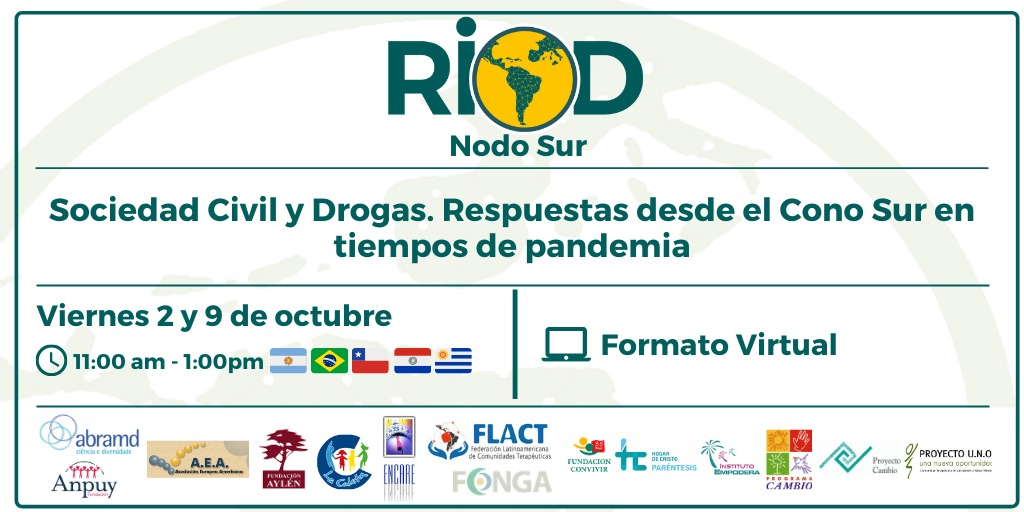 «Respuestas de la sociedad civil en el Cono Sur ante el contexto de pandemia. Realidades del tema drogas»